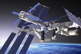 ATV Docked To the ISS  Artwork