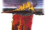 Erupting Icelandic Volcano  Artwork
