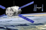 ATV Approaching the ISS  Artwork