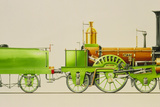 Illustration of a 19th Century Steam Locomotive