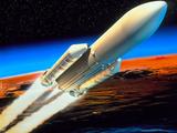 Art of Launch of Ariane 5 Rocket