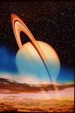 Saturn Seen From Its Moon Titan