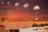 Huygens Probe Landing on Titan  Artwork