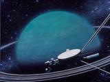 Artwork Showing Voyager 2's Encounter with Uranus