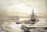 Ship Stuck In Antarctic Ice  Artwork