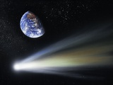 Comet And Earth  Artwork