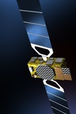 Galileo Navigation Satellite  Artwork