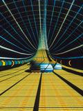 Interior of a Giant Farm Spaceship