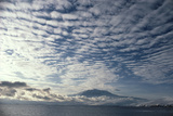 Altocumulus Cloud Cover Over Mt Erebus Volcano