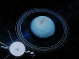 Artist's Impression of Voyager 2 At Uranus