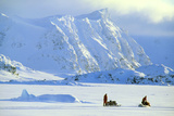 Skidoo And Sledge Transport  Antarctica