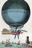English Channel Balloon Crossing  1785