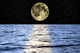 Moon Over the Sea  Composite Image