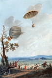 First Parachute Descent  1797