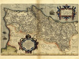 Ortelius's Map of Portugal  1570