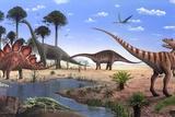 Jurassic Dinosaurs  Artwork