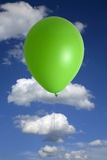 Green Balloon And Climate Change
