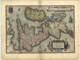 16th Century Map of the British Isles