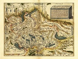 Ortelius's Map of Switzerland  1570