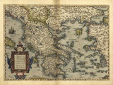 Ortelius's Map of Greece  1570