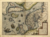 Ortelius's Map of Northern Europe  1570