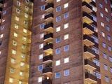 High-rise Flats At Night