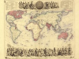 British Empire World Map  19th Century