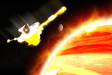 Galileo Spacecraft Burning Up In Jupiter