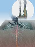 Underwater Volcanic Vents  Artwork