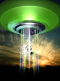 UFO Cattle Abduction  Conceptual Artwork