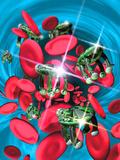 Computer Artwork of Nanorobots In the Bloodstream
