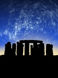 Star Trails Over Stonehenge