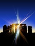 Light Flares At Stonehenge  Artwork