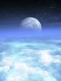 Moon From Earth  Artwork