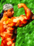 Composite Image of Steroids on a Male Bodybuilder