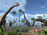 Brachiosaurus Dinosaurs  Artwork