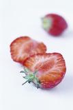 Halved Strawberries