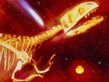 Computer Image of the Death of the Dinosaurs
