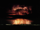 Thunderstorm At Night Near Tucson