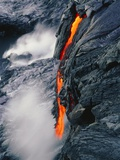 Pahoehoe Lava Flow From Kilauea Volcano  Hawaii