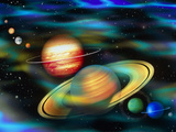 Computer Artwork of Solar System Planets