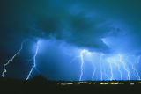 Lightning Strikes At Night In Bisbee  Arizona  USA