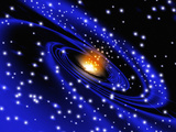 Galaxy Formation  Computer Artwork