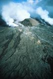 Aerial View of Pu'u O'o Vent of Kilauea Volcano