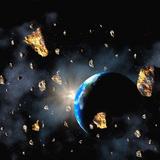 Comet Or Asteroid Debris  Artwork