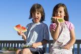 Children Eating Watermelon