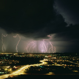Lightning Storm Over Tucson  Arizona