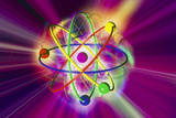 Computer Artwork of a Beryllium Atom