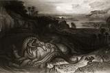 1838 Megalosaurus And Iguanodon by Martin