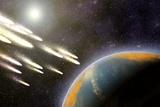 Earth's Cometary Bombardment  Artwork